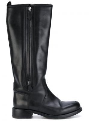 Сапоги по колено Hermès Vintage. Цвет: черный