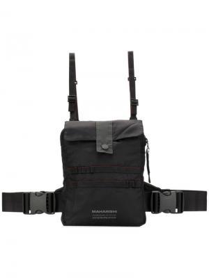 Нагрудная сумка Maharishi. Цвет: черный