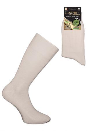 Носки мужские Totall. Цвет: молочный