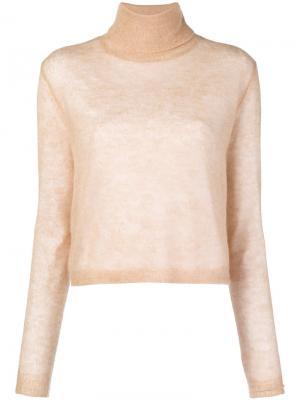 Boxy roll neck sweater Alysi. Цвет: нейтральные цвета