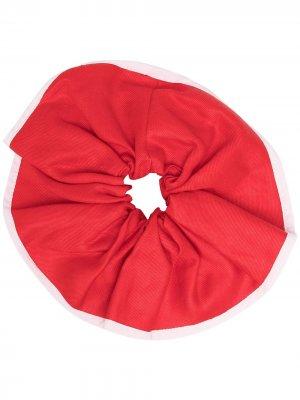 Резинка для волос с контрастной отделкой Atu Body Couture. Цвет: красный