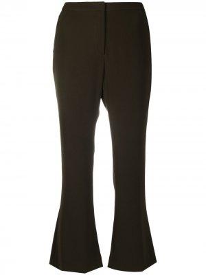 Расклешенные брюки средней посадки Aspesi. Цвет: зеленый