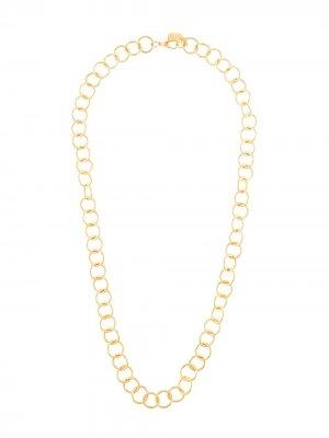 Широкая цепочка на шею LIYA. Цвет: золотистый