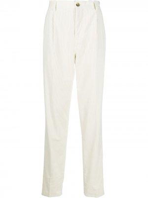 Вельветовые брюки свободного кроя Brunello Cucinelli. Цвет: белый