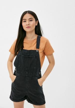 Комбинезон джинсовый Cotton On. Цвет: черный