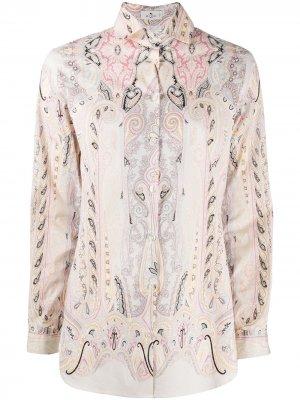 Рубашка Leafy с принтом пейсли Etro. Цвет: розовый