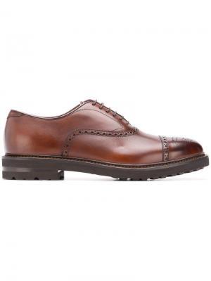 Броги на шнуровке Henderson Baracco. Цвет: коричневый