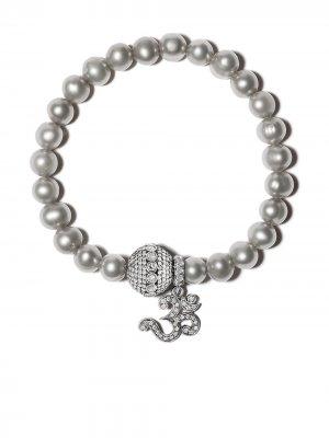Жемчужный браслет с бриллиантами Loree Rodkin. Цвет: серебристый