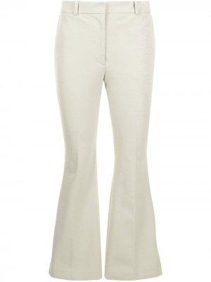 Укороченные расклешенные брюки Joseph. Цвет: зеленый