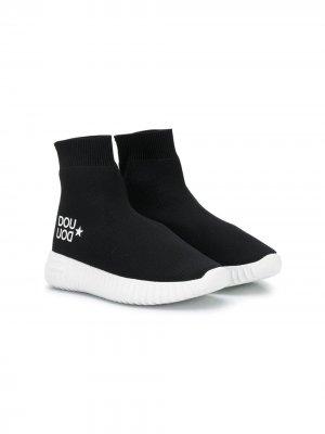 Кроссовки-носки Douuod Kids. Цвет: черный