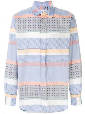 Панельная рубашка с узором Engineered Garments. Цвет: синий