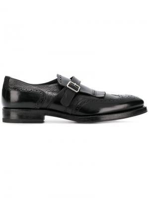 Туфли-монки Henderson Baracco. Цвет: черный