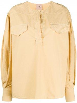 Блузка оверсайз с длинными рукавами Nude. Цвет: желтый