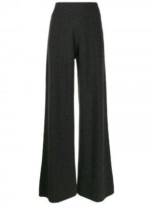 Трикотажные брюки клеш Pringle of Scotland. Цвет: серый