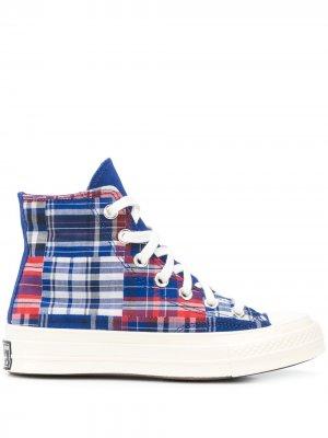 Высокие кеды Twisted Prep Chuck 70 Converse. Цвет: синий