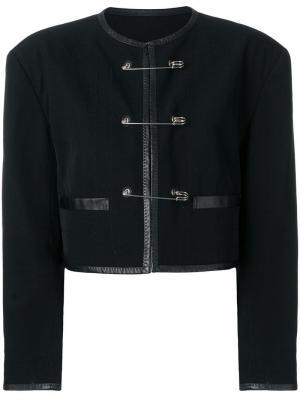 Укороченный пиджак с булавками Jean Paul Gaultier Vintage. Цвет: черный