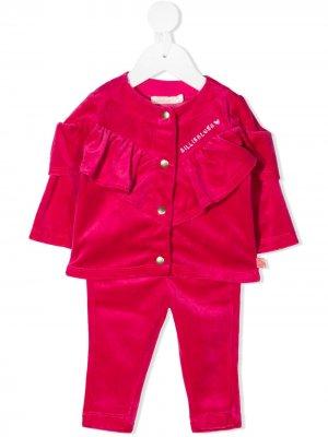 Бархатный костюм-двойка Billieblush. Цвет: розовый