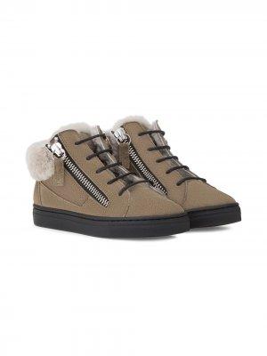 Высокие кроссовки с меховой подкладкой Giuseppe Junior. Цвет: зеленый