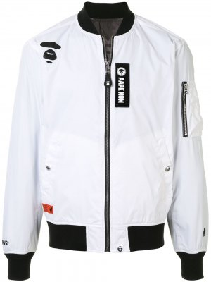 Куртка-бомбер AAPE BY *A BATHING APE®. Цвет: белый