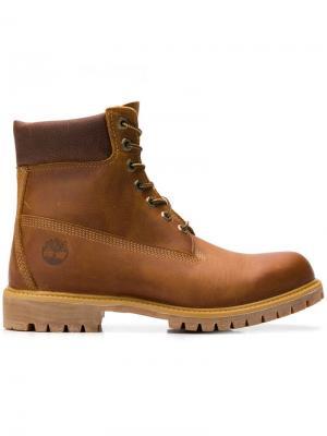 Ботинки Heritage на шнуровке Timberland. Цвет: коричневый