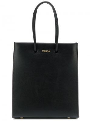 Маленькая сумка-шоппер Medea. Цвет: черный