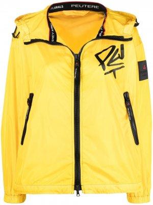 Куртка с капюшоном и графичным принтом Peuterey. Цвет: желтый