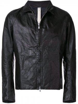 Кожаная куртка классического кроя A Diciannoveventitre. Цвет: черный