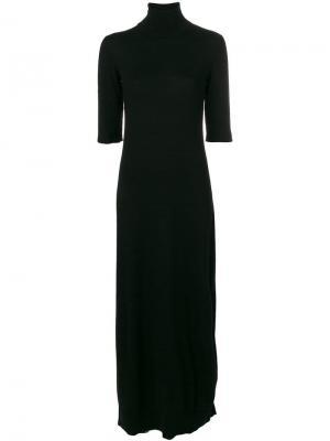 Платье-свитер с короткими рукавами Mm6 Maison Margiela. Цвет: черный