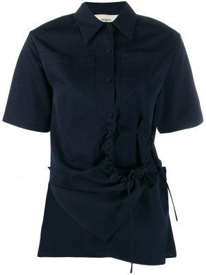 Рубашка асимметричного кроя со шнурком Ports 1961. Цвет: синий