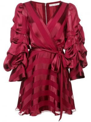 Santina dress Alice+Olivia. Цвет: красный