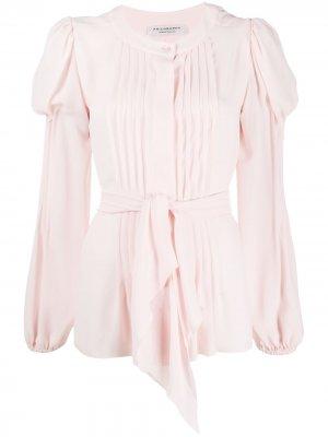 Блузка с плиссировкой и завязками Philosophy Di Lorenzo Serafini. Цвет: розовый