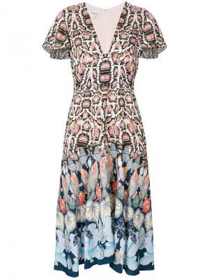 Платье с принтом Temperley London. Цвет: разноцветный