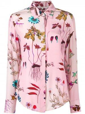 Рубашка с цветочным принтом Stella McCartney. Цвет: розовый