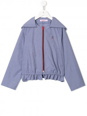 Куртка со съемным капюшоном Familiar. Цвет: синий
