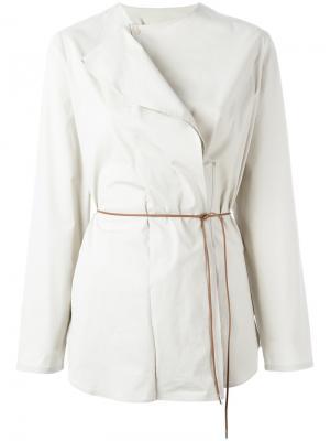 Асимметричная блузка с поясом Fabiana Filippi. Цвет: нейтральные цвета