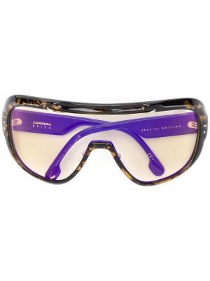 Солнцезащитные очки Epica в стиле оверсайз Carrera. Цвет: коричневый
