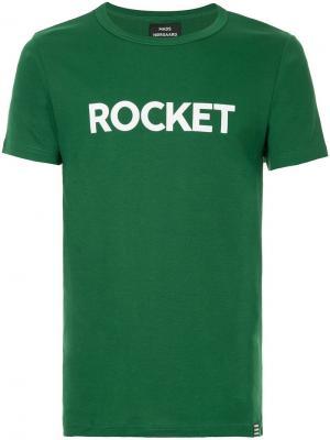Футболка с принтом Rocket Mads Nørgaard. Цвет: зеленый