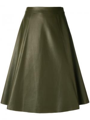 Расклешенная юбка миди Drome. Цвет: зеленый