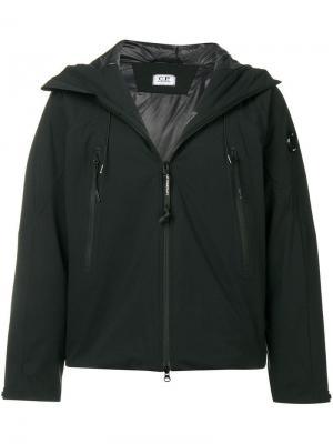 Куртка из водоотталкивающего материала с капюшоном CP Company. Цвет: черный
