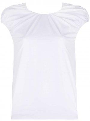 Драпированная футболка Rochas. Цвет: белый