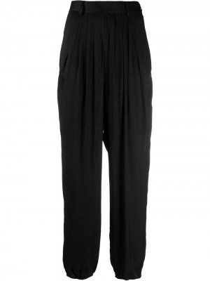 Зауженные брюки Jacko с леопардовым принтом Ba&Sh. Цвет: черный