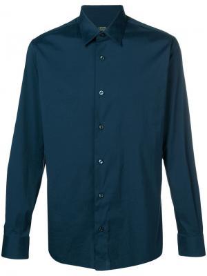 Slim fit shirt Z Zegna. Цвет: синий