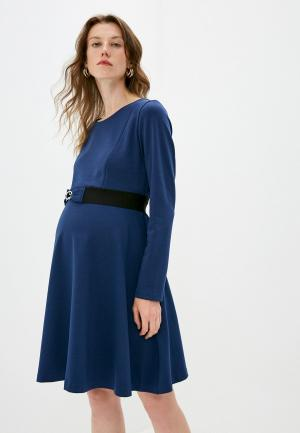Платье Pietro Brunelli Maternity. Цвет: синий