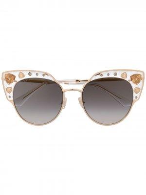 Солнцезащитные очки Audrey в оправе кошачий глаз Jimmy Choo Eyewear. Цвет: золотистый