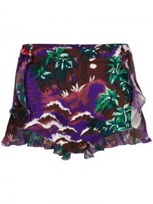 Пляжные шорты с гавайским принтом Dsquared2. Цвет: розовый