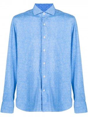 Рубашка с длинными рукавами Orian. Цвет: синий
