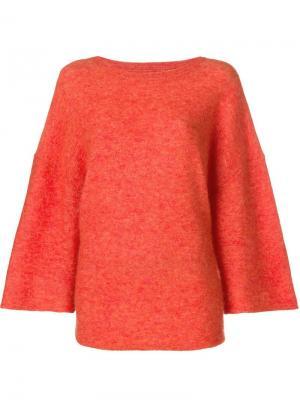 Flared sleeve knit jumper By Malene Birger. Цвет: желтый