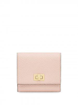 Фактурный кошелек Peekaboo Fendi. Цвет: розовый