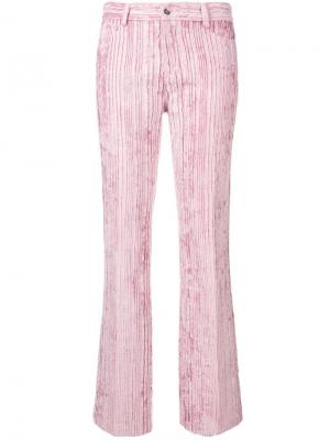 Вельветовые брюки узкого кроя Giambattista Valli. Цвет: розовый
