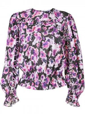 Блузка с цветочным принтом IRO. Цвет: фиолетовый